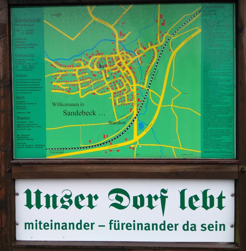 Sandebeck - orientačná tabuľa
